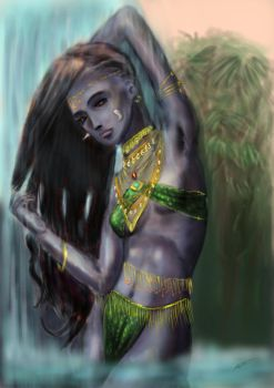 Troll Matriarch of the Vemnai Tribe by kscottlewis