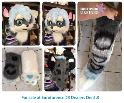 Kemono Snow Leopard Partsuit by Sethaa