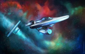 U.S.S. Enterprise NCC-1701 by Airiss-Sinner