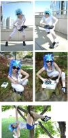 Evolution of Vinyl Scratch cosplay by shelle-chii