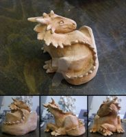 Clay dragon by The-Manticore