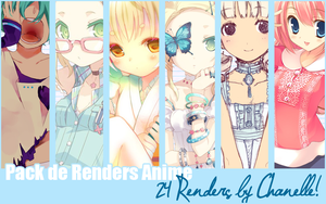 Pack de Renders Anime x33 by ChanelleFantasy