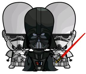 Evil Darthy with Og-Troopers by Psychosammy