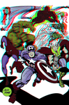 Marvel Characters by Jack Kirby in 3D Anaglyph by xmancyclops