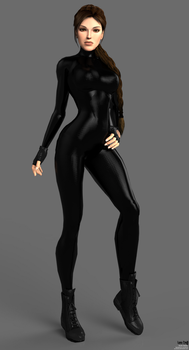Lara Croft TR5 Catsuit Outfit by puczkosia