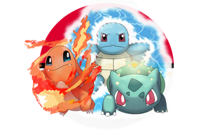 Kanto Starters by tsarinvisible