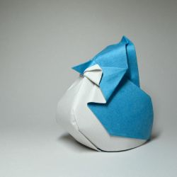 Origami Blue Jay by HTQuyet