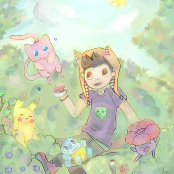 Catching Mew by Ink-Monster
