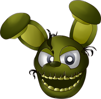 FNaF World - Springtrap (SHADING TEST SUCCESS) by loneIiness