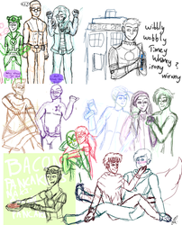Young Avengers Sketch Dump by SugarNoms