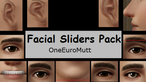 Facial Sliders Pack by OneEuroMutt