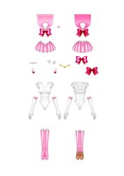 Sailor Chibimoon Paper Doll part 2 of 2 by starca