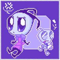 Invader Zim-Pixelart by re-ve-rie