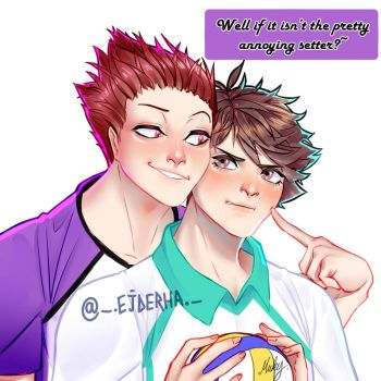 Oiten - Oikawa Tooru and Tendou Satori - Match by Mint-Tuna