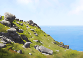 Land's End - Landscape Study by Aliciane