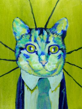 Clifton French, A Business Cat by supah-com