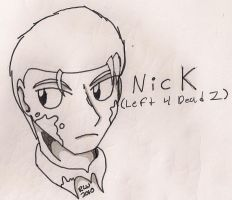 Lineart - Nick from L4D2 by elijahtrevelyan