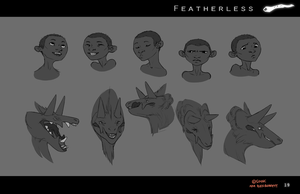 Featherless: Saagon and Atukybo expressions by Sarspax