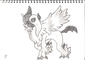 Mega Absol Sketch by Megalomaniacaly