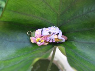 Magical Violet Frog by masaste
