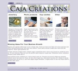 WIP - Caja Creations website by petrova