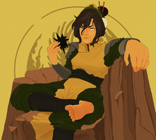 ATLA - Toph/Secret Santa by borearisu