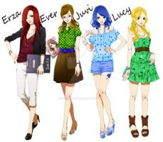 Fairy tail girls by enchantic-erza