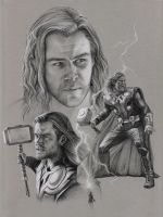 The Avengers - Thor by doodlingdruid