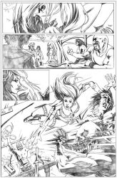 Red Sonja page 3 - tryout by vitorgorino