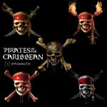 Pirates of the Caribbean : skull logo by mintmovi3
