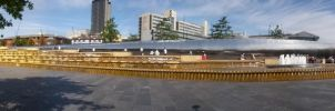 Sheffield Fountains Panoramic by CooroSnowFox