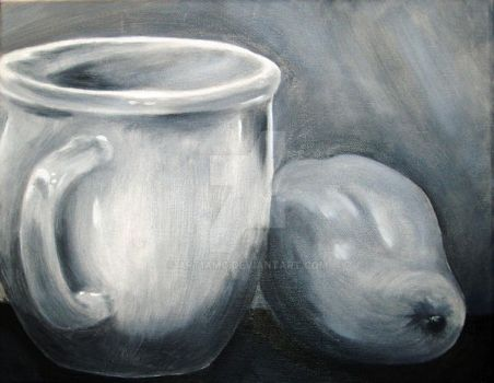 Cup and Pear by art1amc