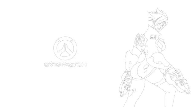 Overwatch Tracer No Color by Igotthisdudeforreal