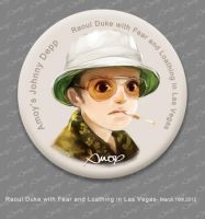 Raoul Duke Pin by amoykid