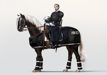 Mounted police by JaneMere