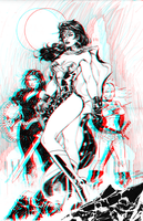 Wonder Woman by Jim Lee in 3D Anaglyph by xmancyclops
