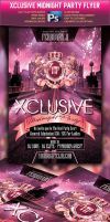 Xclusive Midnight Party Flyer by squizmo