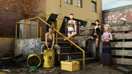 Velvet Glove: Girl Gangs of Gotham by sigquit