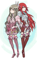 Sumia and Cordelia by neneno
