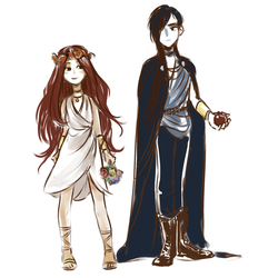 Persephone and Hades by pamellka