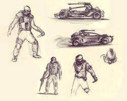 Post-Apocalyptic Sketches by kiril27