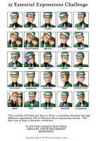 25 Expressions- The Riddler by ViridianSoul