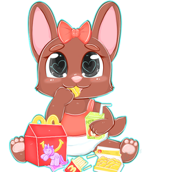 Happy Meal Bunny -By Nyogart- by DanielMania123