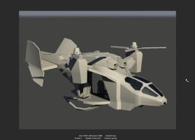Halo Reach: UH 144 Falcon WIP2 by muzikmastamaku
