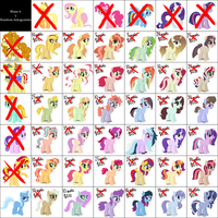 Mane 6 x Random Antagonists adopts - CLOSED by TRASHYADOPTS