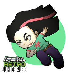 Fusion Fall Chibi | Juniper Lee by TeddyBoyDraws