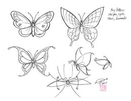Draw Butterfly Wings by Diana-Huang