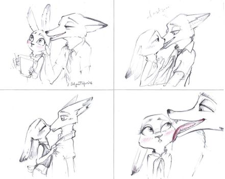 Kiss (Judy and Nick) by SatynaPaper