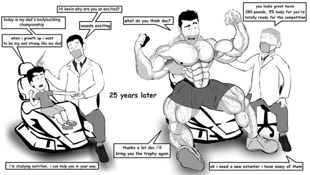 Kevin Muscle Growth Normal way by Salvador503