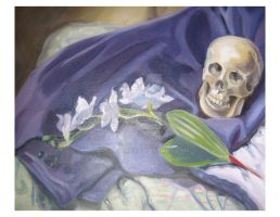 orchid and skull oils by lucidfairy